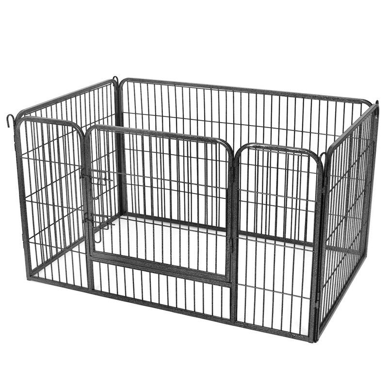 Iron Metal Dog Cage 3.8X14 Cm Mesh Opening Rust Proof Robust Structure