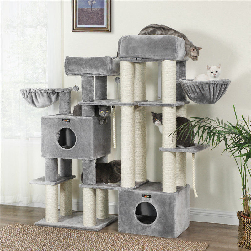 Urban Chewy Cat Scratching Post Oversized Design With Heavy Plush Perch