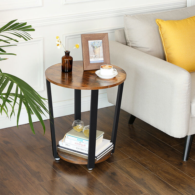 Round Side Table For Home Small, Small Round End Table